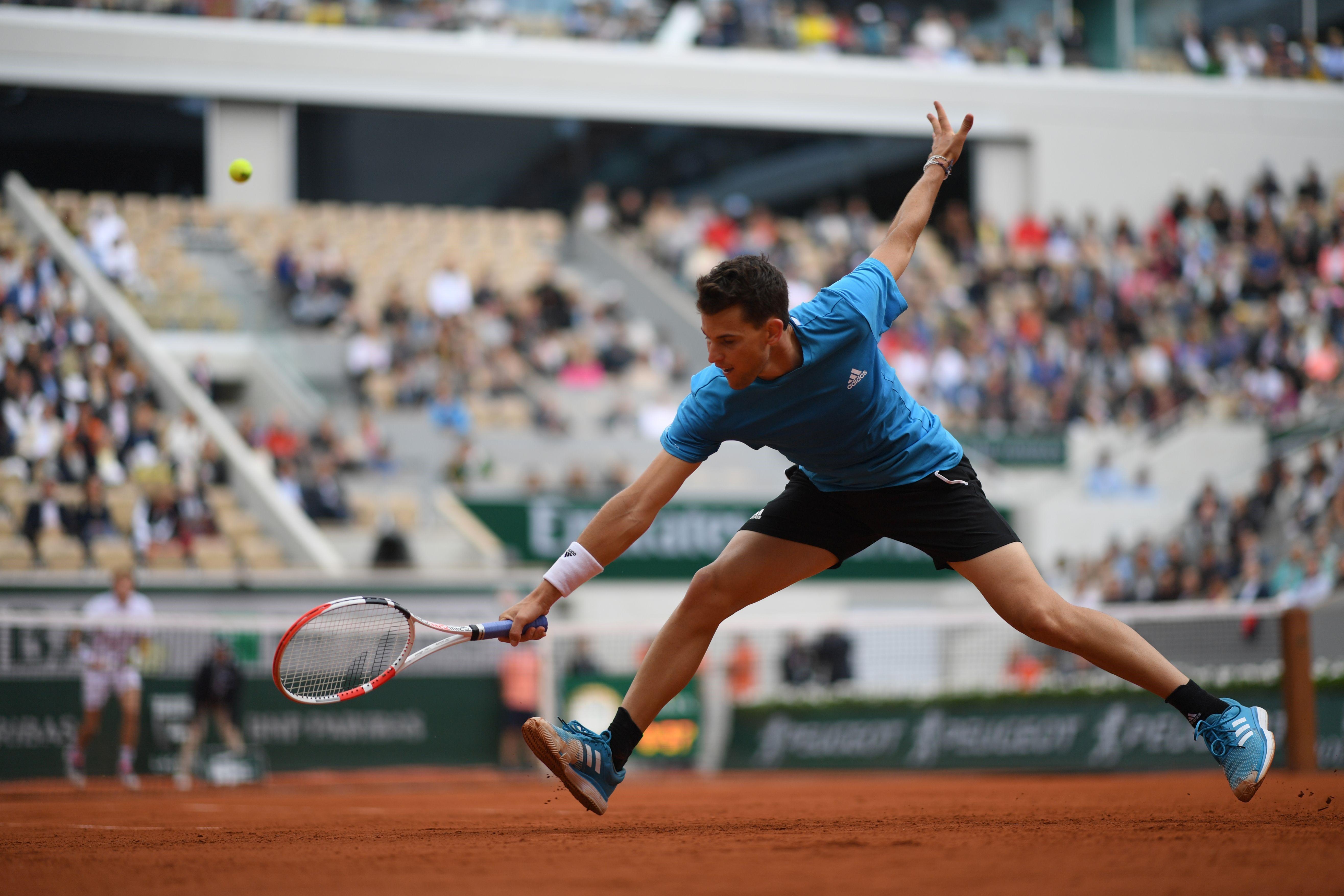 Dominic Thiem lors de Roland-Garros 2019