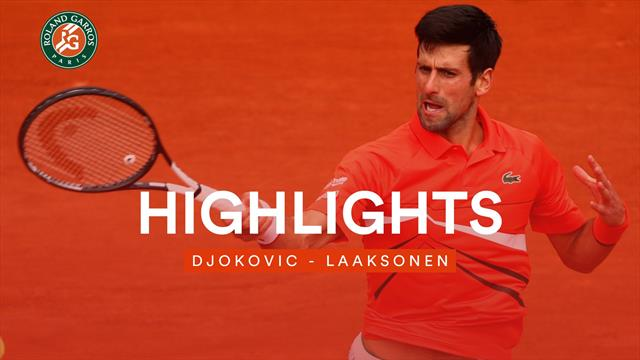 Da brennt nichts an: Djokovic hat Laaksonen im Griff