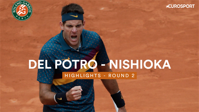 Highlights: Del Potro prevails in five-set battle with Nishioka