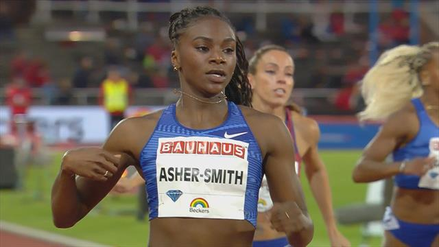 Asher-Smith posts world-leading time to storm to 200m victory in Stockholm