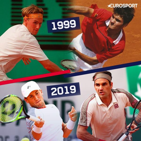 Federer e Ruud: lo svizzero era già in tabellone quando nel 1999 c'era anche Christian Ruud, papà del Casper affrontato al 3° turno del RG 2019
