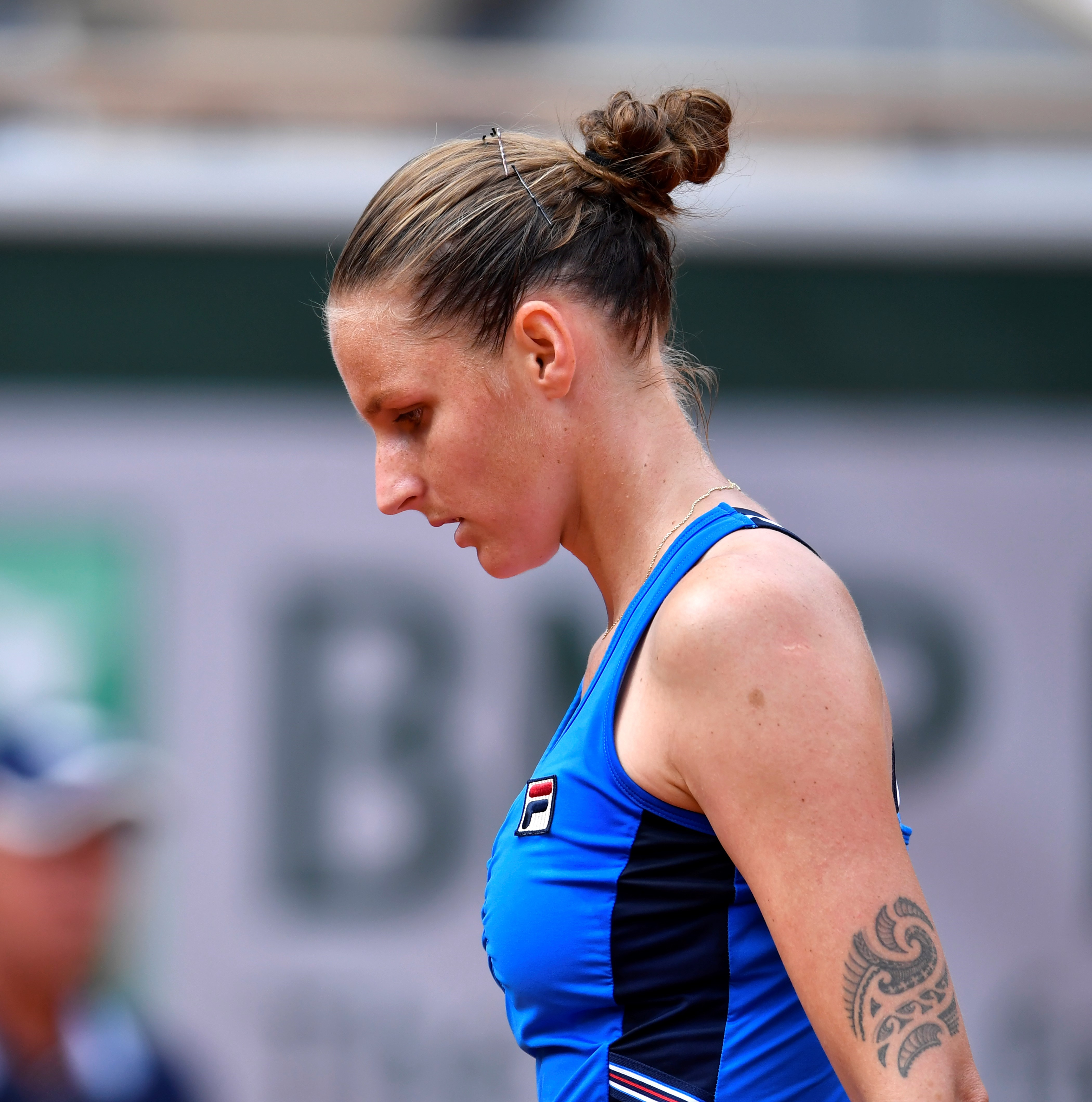 Karolina Pliskova lors de Roland-Garros 2019