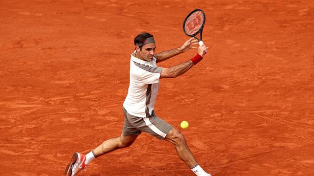 Smash, volée, revers slicé : Federer a dégoûté Ruud