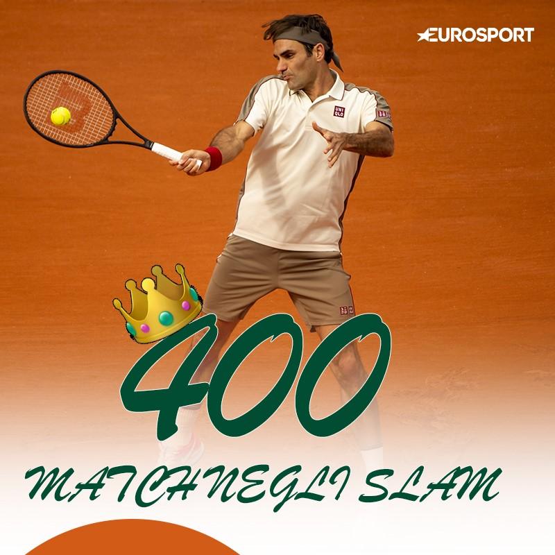 2019 Roland Garros Roger Federer 400 match