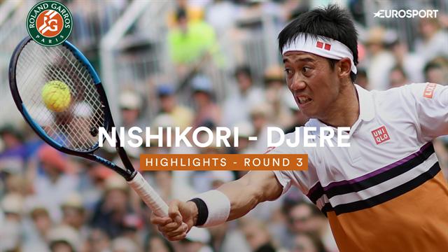 Roland Garros: Hoogtepunten - Nishikori vs Djere
