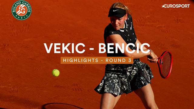 Roland Garros: Hoogtepunten Vekic vs Bencic