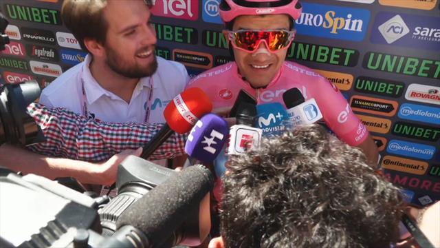 """Giro de Italia 2019, entrevista a Carapaz antes de la 20ª etapa: """"Intentaremos ganar tiempo"""""""