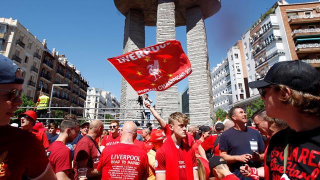 Ambientazo en las fan zones de Liverpool y Tottenham en Madrid antes de la final de la Champions