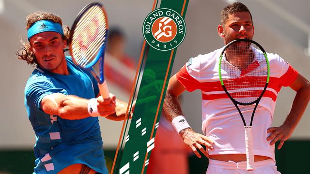 Highlights: Imponerende Tsitsipas sender serbiske Krajinovic ud af Roland Garros