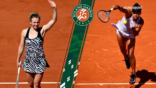 Highlights: Siniakova overaskede og sendte nedslået Osaka tidligt ud af Roland Garros