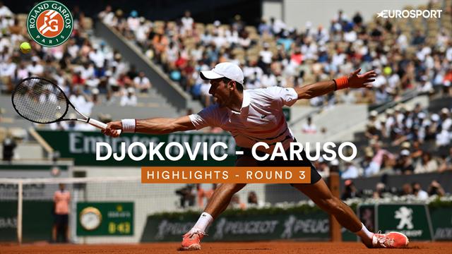 Roland-Garros 2019, Djokovic-Caruso: El calor no puede con 'Nole' (6-3, 6-3 y 6-2)