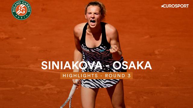 Siniakova - Osaka : Les temps forts