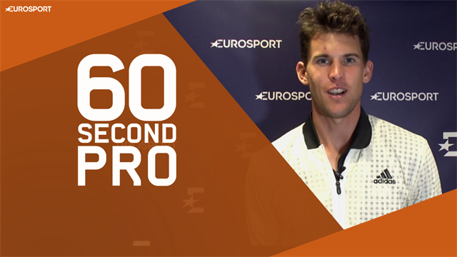 60 Second Pro: Dominic Thiem on the perfect kick serve
