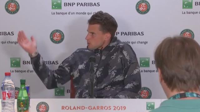 """Thiem énervé d'avoir dû abréger sa conf' de presse pour Serena : """"C'est une blague ?"""""""