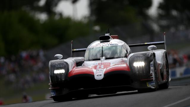 El Toyota de Fernando Alonso vuela en los primeros test de las 24 Horas de Le Mans