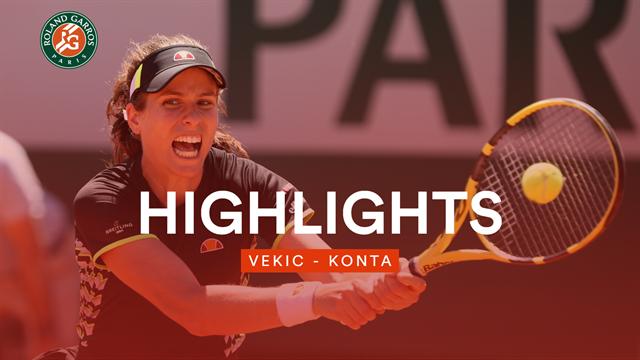 So machte Konta ihr erstes French-Open-Viertelfinale klar