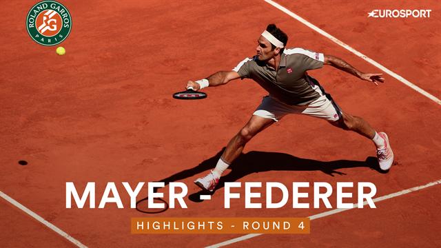 Federer était en mode démonstration : les plus beaux coups de sa victoire face à Mayer