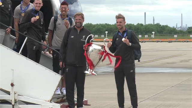 Klopp and Henderson bring Champions League trophy back to Liverpool