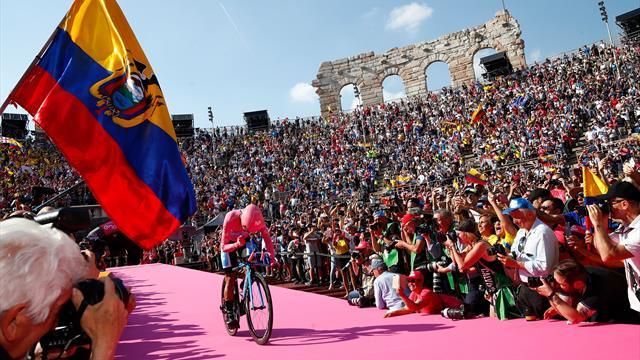 Richard Carapaz wint de Giro d'Italia!