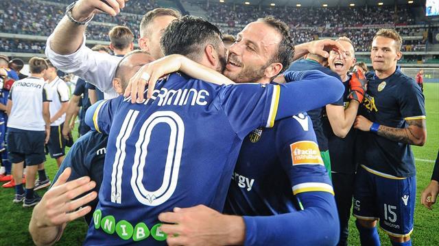 Il dolce epilogo dopo una stagione difficilissima: l'Hellas Verona torna in Serie A