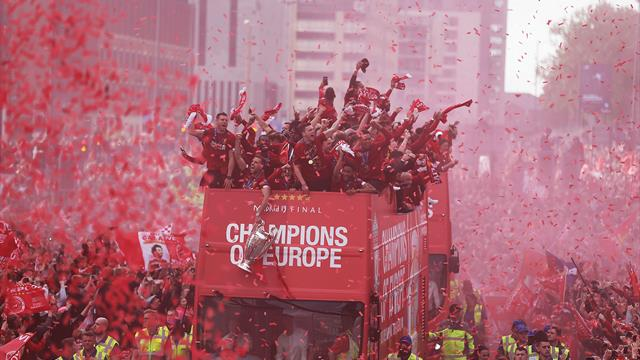 Thousands line the streets for Champions League winners Liverpool