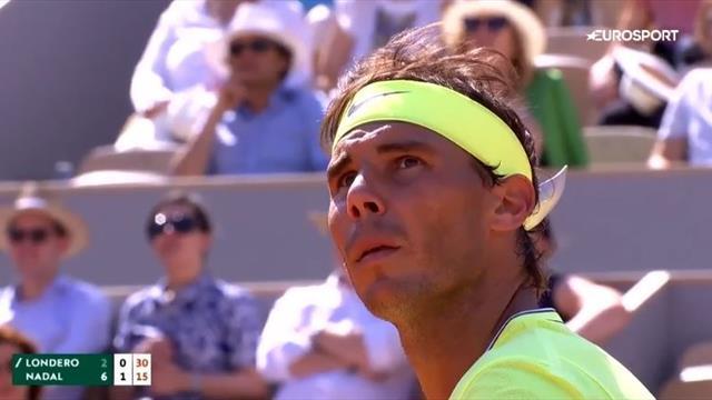 Oppgitt Nadal og Londero stopper kampen på grunn av tilskuer