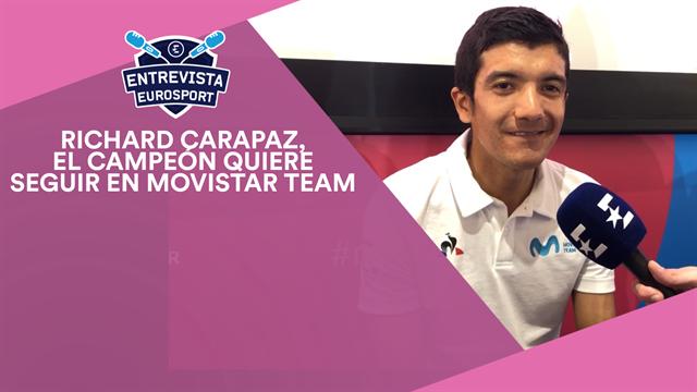Richard Carapaz, en Eurosport: El campeón del Giro piensa en grande y quiere renovar con Movistar