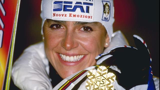 Deborah Compagnoni, la campionessa che ha battuto anche la sfortuna