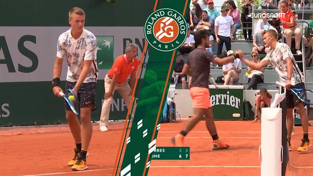 Highlights: Sådan! Holger Rune spiller sig på ny videre i Roland Garros