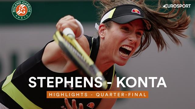 Roland-Garros 2019, Stephens-Konta: La primera semifinalista llega con sorpresa