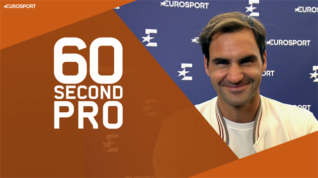 Roger Federer - 60 Second Pro: How to serve and volley on clay