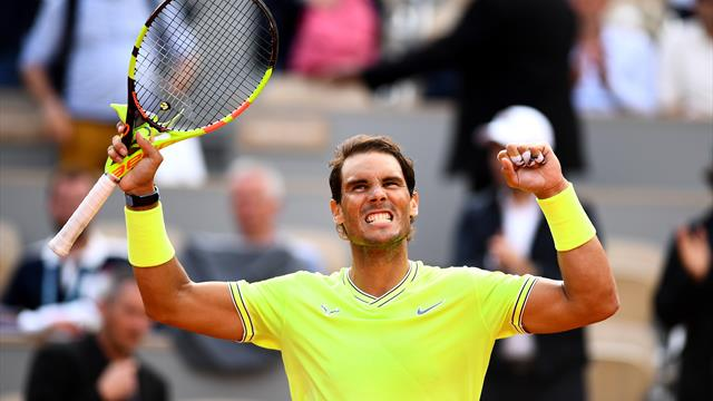Imperious Nadal hammers Nishikori in straight sets to reach final four
