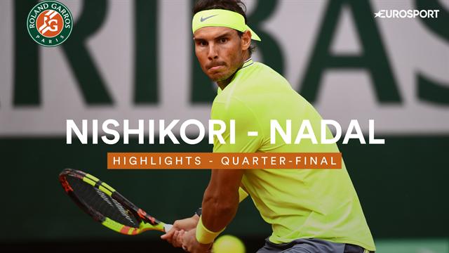 Roland-Garros 2019, Nishikori-Nadal: La tormenta perfecta (1-6, 1-6 y 3-6)
