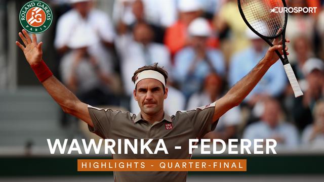 Highlights - Federer downs Wawrinka after tense battle