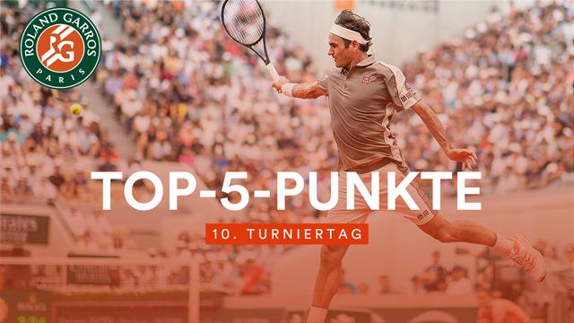 Das Beste vom Tag: Federers Traum-Volley lässt Wawrinka verzweifeln