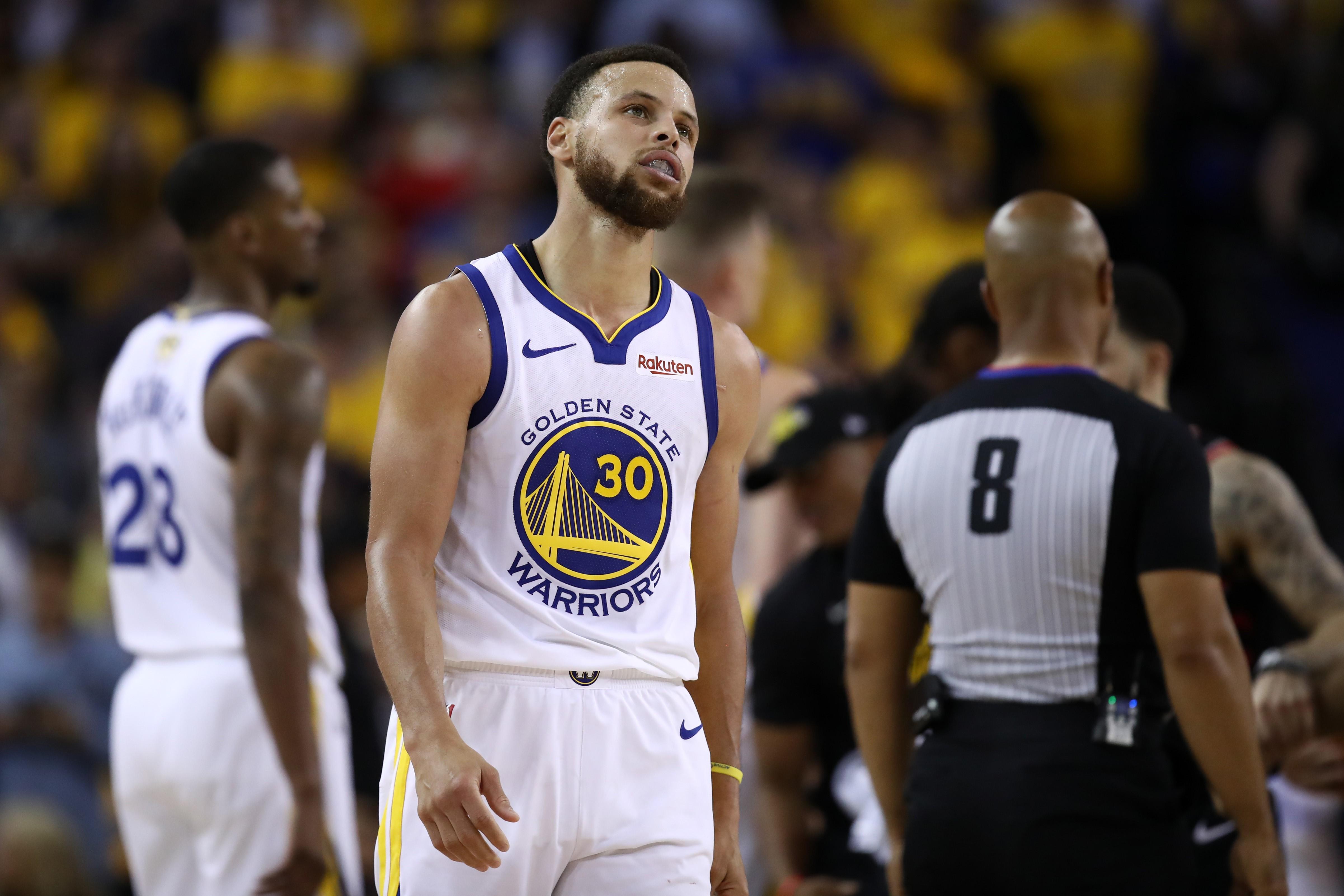 Stephen Curry lors de Golden State - Toronto Match 3 des Finales NBA 2019