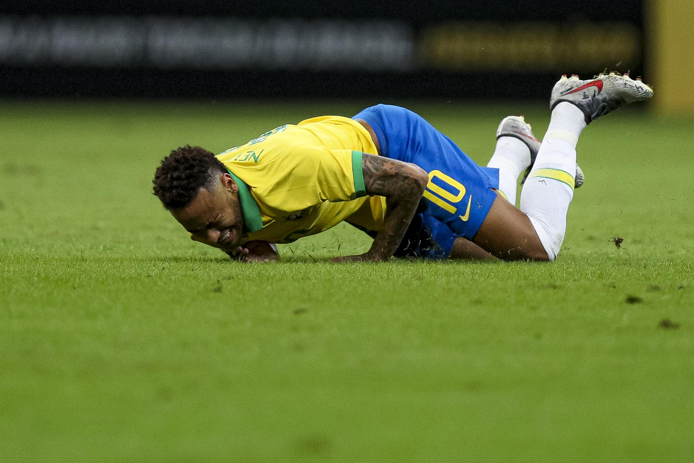 Neymar lors de Brésil - Qatar le 5 juin 2019 à Brasilia