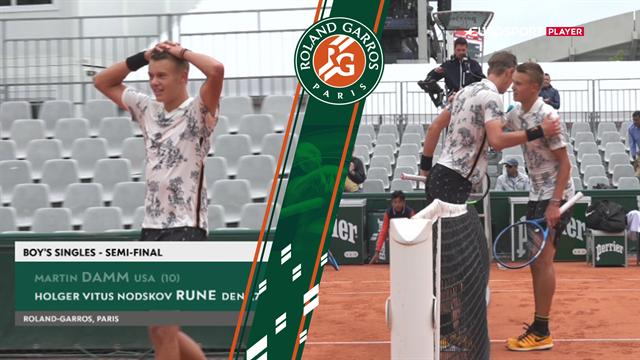 Fantastisk! Danske Holger Rune spiller sig i finalen i Roland Garros
