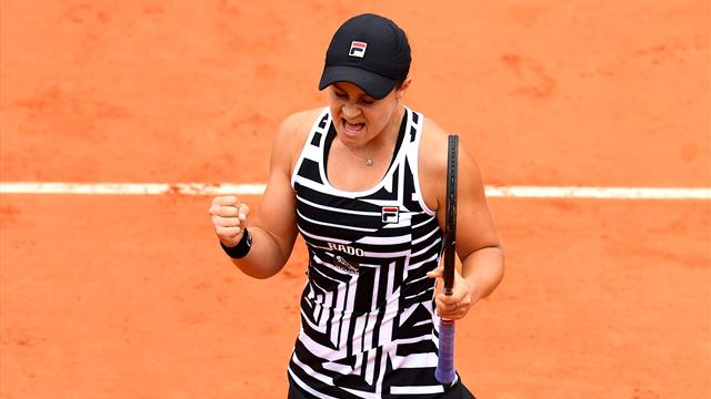 Barty reaches French Open final after nerve-ridden thriller