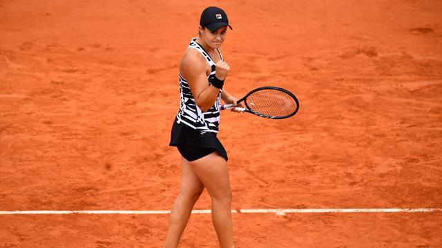 Renversante, Barty renvoie Anisimova à ses études