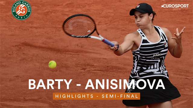 Highlights: Barty ends Anisimova run