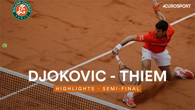 Highlights: Djokovic and Thiem all square after rain delays match