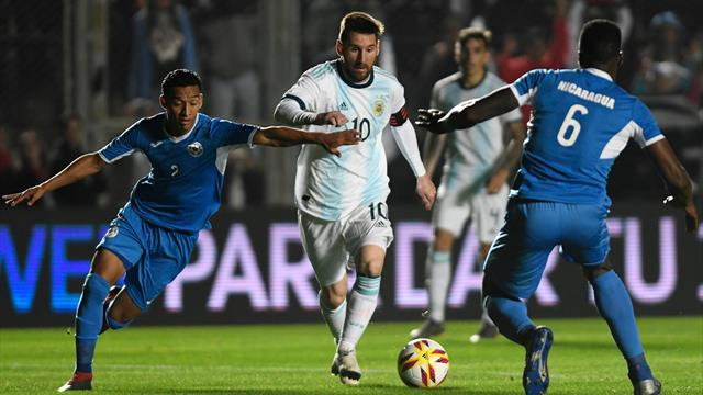 Messi et l'Argentine s'amusent contre le Nicaragua