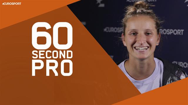 60 Second Pro - Vondrousova talks us through how to nail a drop shot