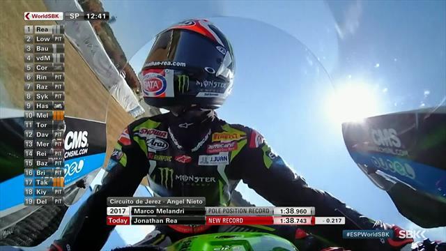 SBK Jerez: Rea fulmina el récord de la pista y consigue la pole por delante de Bautista
