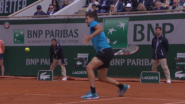 Roland-Garros2019: El largo e intenso punto con el que Thiem sentenció su segundo set
