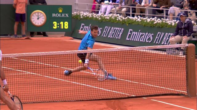 'No way!' - Thiem produces one of the shots of the tournament