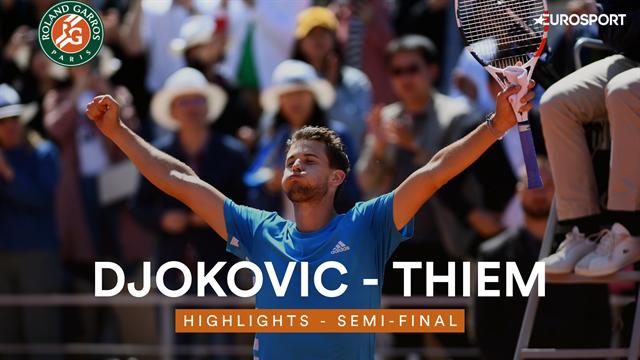 Thiem - Djokovic : Les meilleurs moments d'une demi-finale épique
