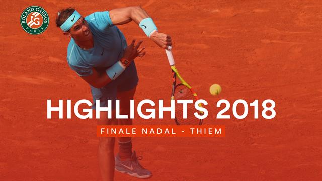 Highlights zum Finale 2018: Nadal lässt Thiem keine Chance