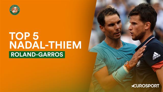Roland-Garros2019, top-5: Los mejores puntos de los Nadal-Thiem, una rivalidad de altos vuelos
